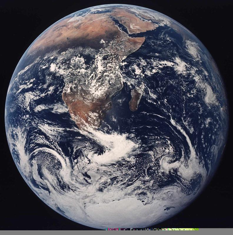 Earth from space  Apol...